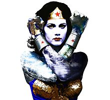 "Title: ""First Date"", Wonder Woman, Lynda Carter inspired Earth Girl, Photographic Print"