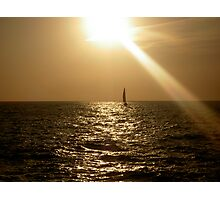 Alone on the sunsets fall Photographic Print