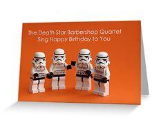 Death Star Barbershop Quartet Greeting Card