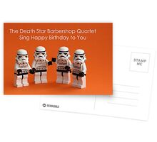 Death Star Barbershop Quartet Greeting Card
