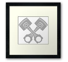 engine piston Framed Print