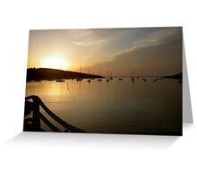 Portinatx sunset Greeting Card