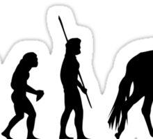 Evolution horse woman Sticker