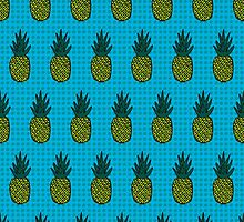 Tropical pineapple pattern by dukepope