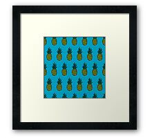 Tropical pineapple pattern Framed Print