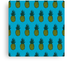 Tropical pineapple pattern Canvas Print
