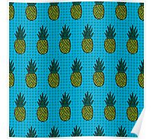 Tropical pineapple pattern Poster