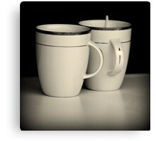 Cups & Spoon Canvas Print