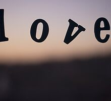 Love word abstract photograph romantic valentines day design by edwardolive