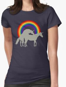 Unicorn Under the Rainbow Womens Fitted T-Shirt
