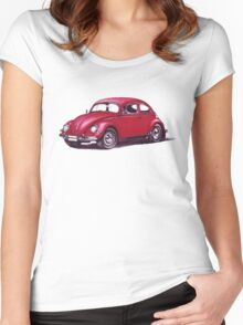Volkswagen Beetle 1957. Women's Fitted Scoop T-Shirt