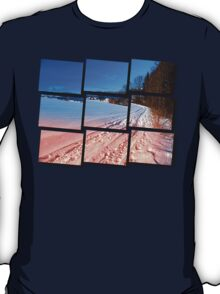 Hiking through a beautiful winter scenery | landscape photography T-Shirt