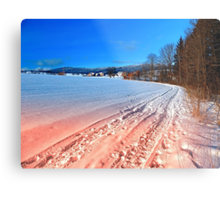 Hiking through a beautiful winter scenery | landscape photography Metal Print