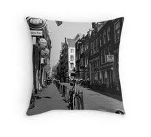 Of  Bicycles and Cobblestones Throw Pillow