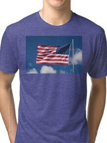 USA Flag Tri-blend T-Shirt