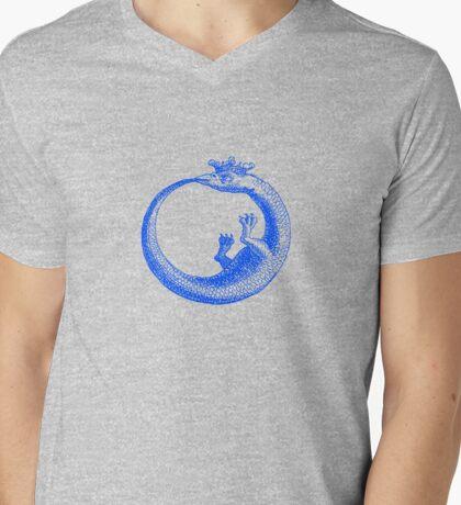 Alchemical Dragon Bites His Tail Mens V-Neck T-Shirt