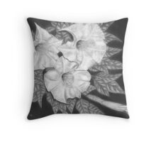 Trio of Heavenly Blossoms Throw Pillow