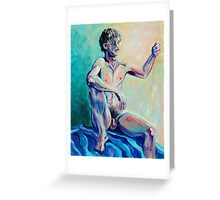 Bold Male Nude (Acrylics)- Greeting Card
