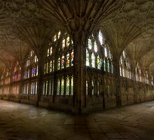 Gloucester Cathedral cloisters by igotmeacanon