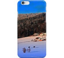 Bohemian forest winter wonderland | landscape photography iPhone Case/Skin