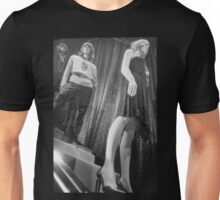 Shop dummy female mannequins black and white 35mm analog film photo Unisex T-Shirt
