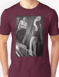 Shop dummy female mannequins black and white 35mm analog film photo T-Shirt