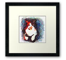 It's That Cat Again Framed Print