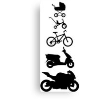 Motorcycle Evolution Canvas Print