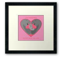 Love Manatees - Protect What You Love Framed Print