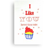 Love and Cake Canvas Print