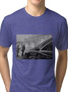Paris France Champs Elysees Lomo LCA lomographic analog film photograph 35mm Tri-blend T-Shirt