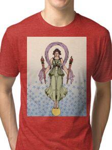 Luminous Goddess & Torches Tri-blend T-Shirt