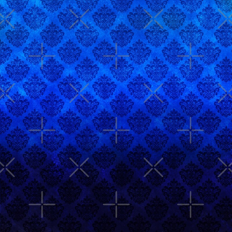 Royal blue damask pattern