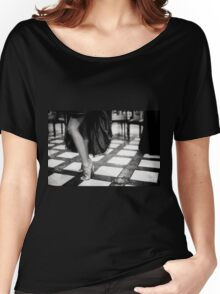 Sexy legs of female guest in party black and white wedding photograph Women's Relaxed Fit T-Shirt