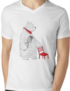 The Red Chair Mens V-Neck T-Shirt