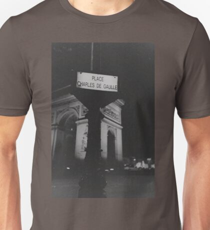 Place Charles de Gaulle Arc de Triomphe Paris Champs Elysees Lomo LCA lomographic analog film photograph 35mm Unisex T-Shirt