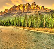 Castle mountain by Christopher B Smyth