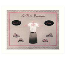 Little Dress Shop Art Print