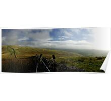 Dyke and fence at Witchie Knowe Poster