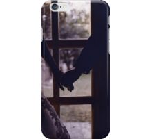 Wedding couple bride groom holding hands analogue film photograph iPhone Case/Skin