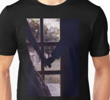 Wedding couple bride groom holding hands analogue film photograph Unisex T-Shirt