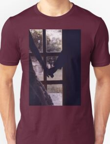 Wedding couple bride groom holding hands analogue film photograph T-Shirt