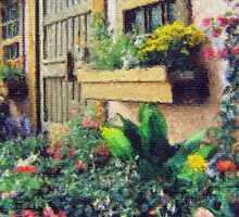 Stylized photo of an English style garden cottage. by NaturaLight