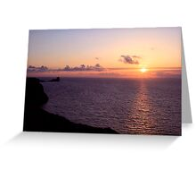 Worm's Head Rhossili Greeting Card