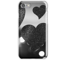 Four love hearts in silhouette night bokeh dof photo iPhone Case/Skin