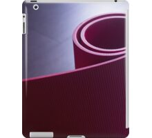 Red fitness yoga and pilates foam gym mats iPad Case/Skin