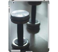 Dumbbell gym metal weights in gym health club iPad Case/Skin