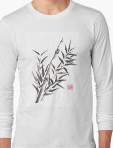No doubt bamboo sumi-e painting Long Sleeve T-Shirt