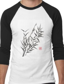 No doubt bamboo sumi-e painting Men's Baseball ¾ T-Shirt