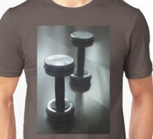 Dumbbell gym metal weights in gym health club Unisex T-Shirt